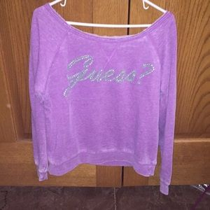 Purposely faded guess shirt